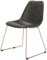 Safavieh Dorian Mid-Century Modern Leather Dining Chair (Set of 2)