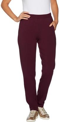 Denim & Co. Petite Active Pull-On Straight Leg Knit Pants