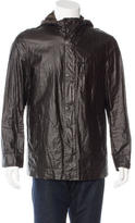 John Varvatos Hooded Wax-Coated Jacket