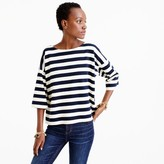 J.Crew Oversized drop-sleeve striped T-shirt