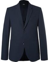 A.P.C. Blue Jerome Slim-Fit Stretch-Cotton Seersucker Blazer