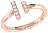 Lmj Parallel Park Ring In 14 Kt Rose Gold Vermeil On Sterling Silver