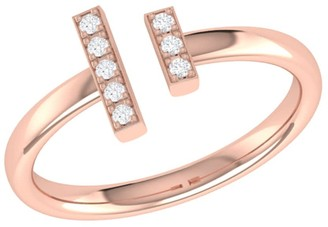 Lmj Parallel Park Ring In 14 Kt Rose Gold Vermeil On Sterling Silver