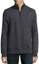 Nautica French Rib Windward Stand-Collar Quarter-Zip