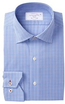 Lorenzo Uomo Small Plaid Trim Fit Dress Shirt
