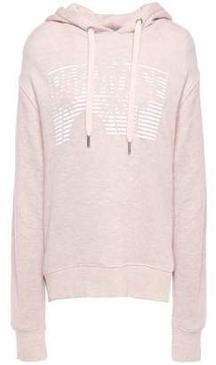 Zoe Karssen Paradise Melange Printed French Cotton-blend Terry Hoodie