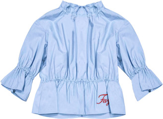 Fay Light Blue Blouse With Logo