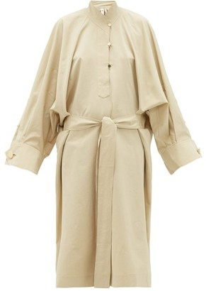 Petar Petrov Anel Waist-tie Cotton-blend Dress - Beige