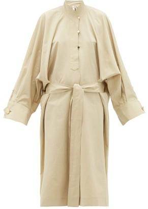 Petar Petrov Anel Waist-tie Cotton-blend Dress - Womens - Beige