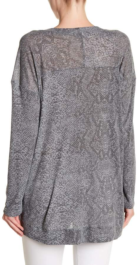 Allen Allen Long Sleeve Printed Tunic