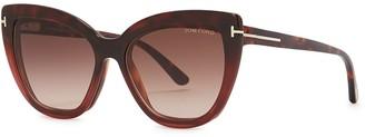 Tom Ford Tortoiseshell Cat-eye Optical Glasses