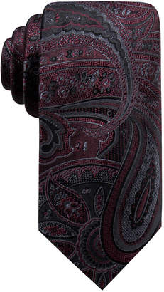 Ryan Seacrest Distinction Men Matilda Slim Paisley Silk Tie