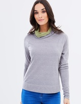 Privilege Relaxed Fit Roll-Neck Top