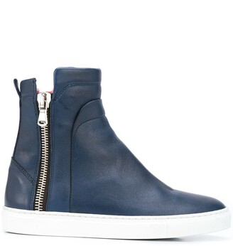 Madison.Maison High-Top Fur Sneaker