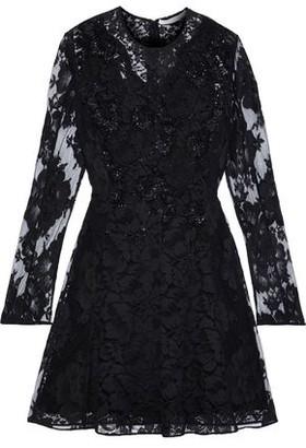 Stella McCartney Embellished Cotton-blend Lace Mini Dress
