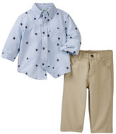 Little Me Sailboat Woven Pant Set (Baby Boys)
