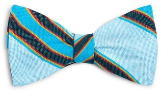Koy Clothing Blue Striped Luo Bow Tie