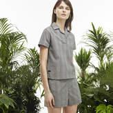 Lacoste Women's Fashion Show Straight Fit Seersucker Polo Shirt