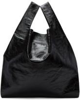 MM6 MAISON MARGIELA Black Patent Shopping Tote