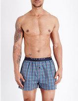 HUGO BOSS Pack of two checked cotton boxers