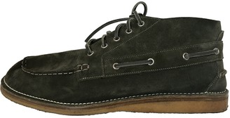 Gucci Green Suede Lace ups