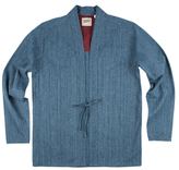 Naked & Famous Denim Hank-Dyed Speckle Basketweave Kimono Sportshirt