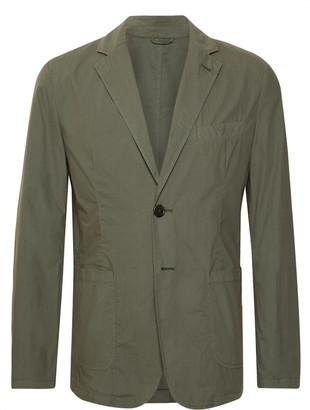 Aspesi Army-Green Unstructured Cotton-Poplin Blazer