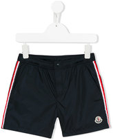Moncler piped striped swim shorts