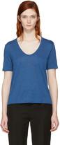 Alexander Wang Blue Classic Cropped Pocket T-Shirt