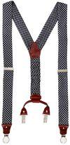 Cor Sine Labe Doli Houndstooth Printed Silk Suspenders
