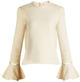 See by Chloe Frill-sleeve cotton-jersey sweatshirt