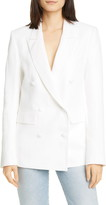 RtA Clark Oversize Double Breasted Cotton & Linen Blazer