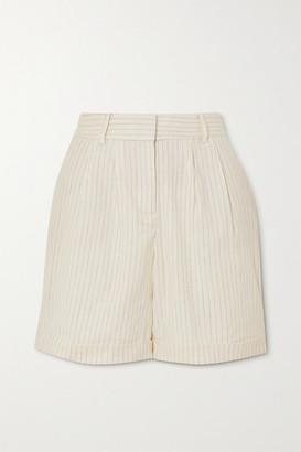 Frame Pinstriped Linen-blend Shorts