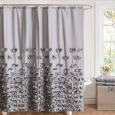 Bed Bath & Beyond Juliet Bow 54-Inch x 78-Inch Shower Curtain in Grey