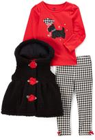 Kids Headquarters Black Rose Button Vest Set - Infant & Toddler