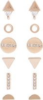 Accessorize Rose Gold 12x Geo Eclectic Stud Earrings Set