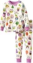Little Blue House by Hatley Little Girls Kids Pajama Set Party Owls