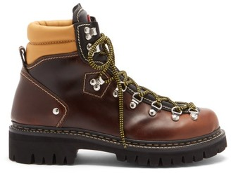 DSQUARED2 Cervino Leather Hiking Boots - Brown