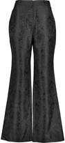 Zimmermann Cropped jacquard straight-leg pants