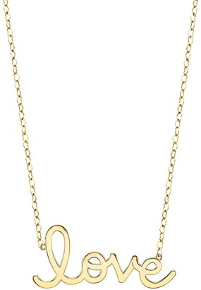 Sydney Evan Large Pure Love Script Necklace