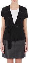 Barneys New York Women's Cashmere Cap-Sleeve Cardigan-BLACK