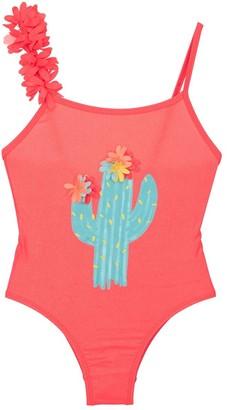 Billieblush Cactus Print Lycra One Piece Swimsuit