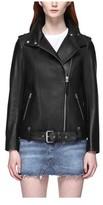 Mackage Women's Selenia Moto Boyfriend Leather Jacket