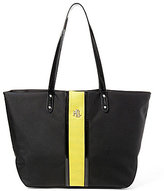 Lauren Ralph Lauren Bainbridge Collection Nylon Stripe Tote