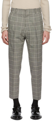 Ami Alexandre Mattiussi Black and Off-White Prince Of Wales Trousers