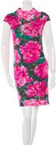 Balenciaga Cap Sleeve Floral Dress