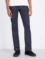 THE SOLOIST Biker relaxed-fit straight jeans