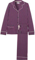 DKNY New Classic Striped Cotton-blend Jersey Pajamas - Dark purple