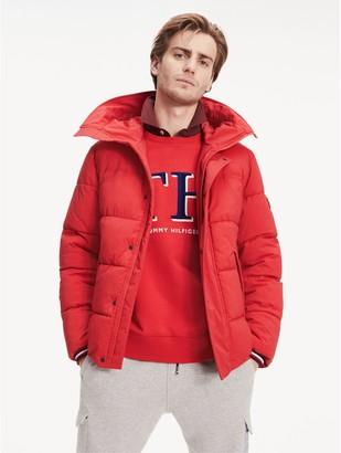 Tommy Hilfiger Stretch Nylon Hooded Puffer Jacket