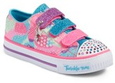 Skechers Girl's Twinkle Toes Shuffles Light-Up Sneaker